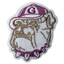 BULLDOG MOTIF IRON ON EMBROIDERED PATCH APPLIQUE